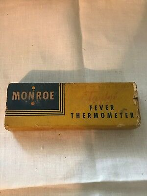 Monroe TAYLOR Glass Oral Fever Thermometer Vintage 1946 w Bakelite Case in Box