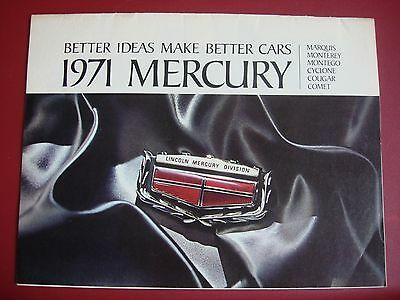 1971 Mercury Better Ideas Make Better Cars Dealer Sales Brochure