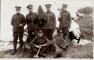 Soldier group 13th London Regiment Kensingtons at annual camp
