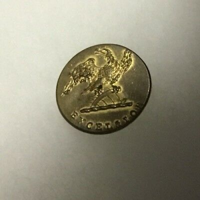 War of 1812 State of New York Excelsior Flat Gilt Military Button