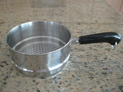 Revere Ware Steamer Insert with Long Handle Fits 2 & 3 Qt Revere Ware Pans EUC