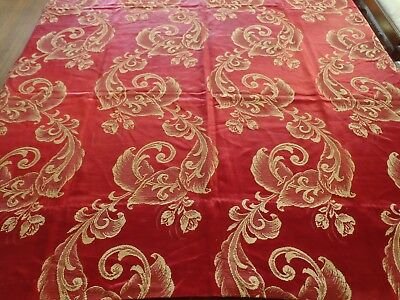 "Vintage 1900's French silk panel 76""x 46"" curtain for doll dresses"