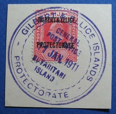 1911 GILBERT AND ELLICE ISLANDS 1d SCOTT# 2 S.G.# 2 USED                 CS03539