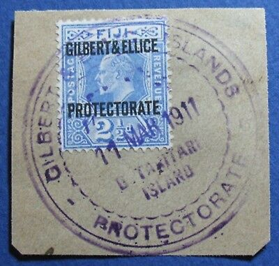 1911 GILBERT AND ELLICE ISLANDS 2 1/2d SCOTT# 4 S.G.# 4 USED             CS03543
