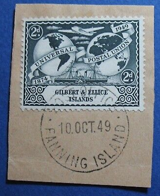 1949 GILBERT AND ELLICE ISLANDS 2d SCOTT# 57 S.G.# 60 USED               CS03553