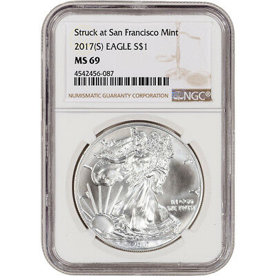 2017-(S) American Silver Eagle - NGC MS69