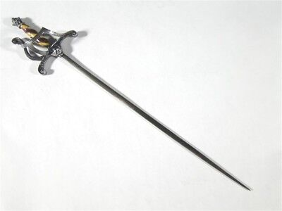 Antique Sterling Silver Columbian Exposition 1492-1893 Enamel Handle SWORD 6.5""
