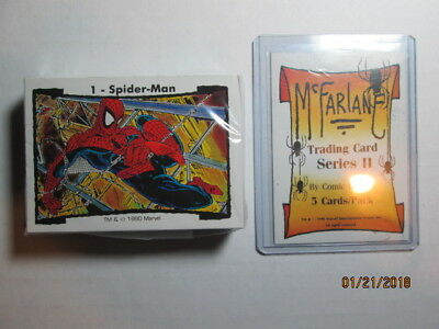 1990 Todd Mcfarlane Series Ii Complete Set ( 45 ) + Pack Header Card