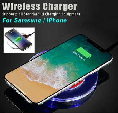 Qi Wireless Charger for Samsung Galaxy S8 S9 Plus Note 9 iPhone X XS Max 8 Plus