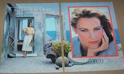 1984 print ad - Estee Lauder Cosmetics -country by the sea- makeup advertising