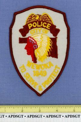 WEWOKA OKLAHOMA Sheriff Police Patch INDIAN NATIVE AMERICAN