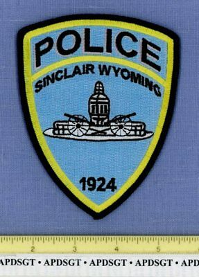 SINCLAIR WYOMING Sheriff Police Patch WW2 WWII MILITARY MONUMENT