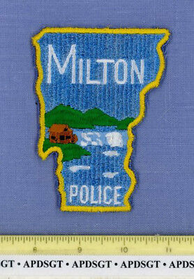 MILTON VERMONT Sheriff Police Patch OLD MILL WATERMILL STATE SHAPE WATERFALL