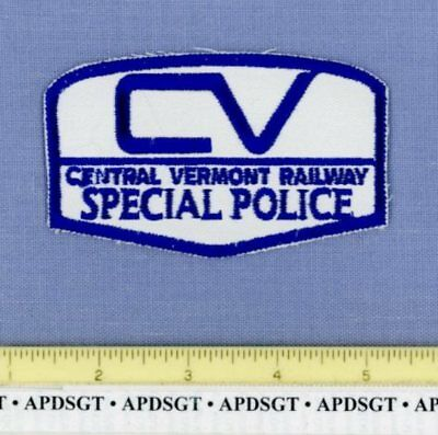 CENTRAL VERMONT RAILWAY SPECIAL POLICE Sheriff Railroad Train Police Patch CVRR