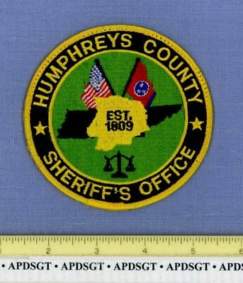 HUMPHREYS COUNTY SHERIFF TENNESSEE Police Patch STATE SHAPE OUTLINE