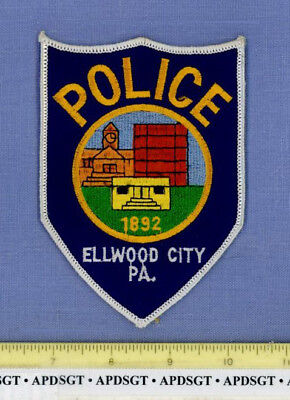 ELLWOOD CITY PENNSYLVANIA Police Patch CITY HALL CLOCK TOWER POLICE STATION