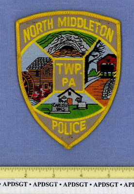 NORTH MIDDLETON TWP PENNSYLVANIA Sheriff Police Patch OLD MILL COVERED BRIDGE