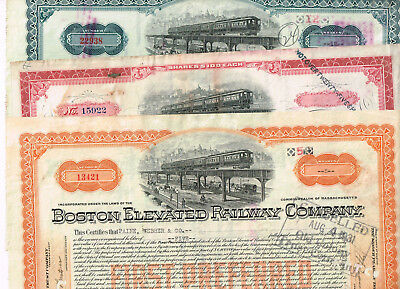 Set 3 Boston Elevated Railway Co., 1900-30s, VF minus, see scan, stains