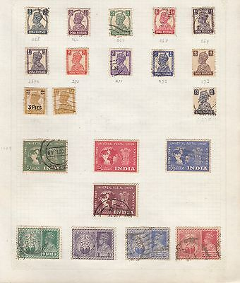 INDIA Collection on Old Album Page stamps removed for shipping(af)