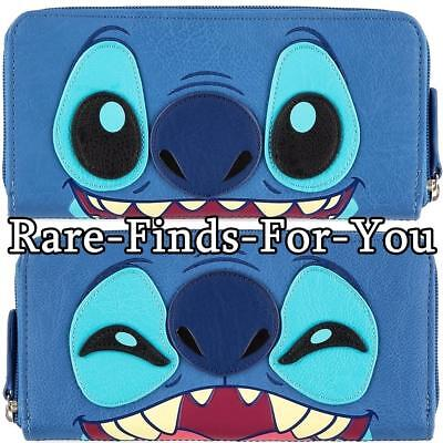 Disney Parks Stitch Two-Sided Expressions Zip-Around Wallet by Loungefly NEW