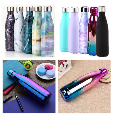 500ML Water Flask Thermos Stainless Steel Thermal Sports Insulated Bottle Cup