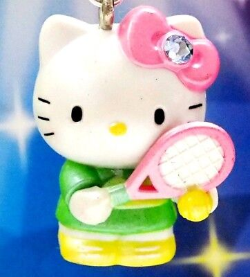 Hello Kitty Loves Playing Tennis Swarovski Elements Crystals Japan Charm Pendant