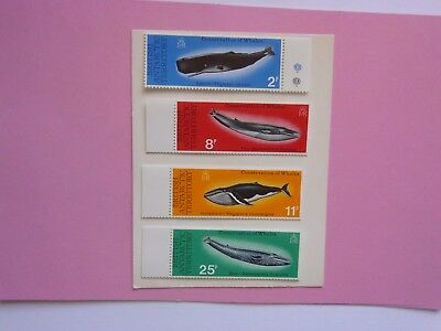 BRITISH ANTARCTIC TERRITORY: 1977 Whales 4values MNH Sg79/82