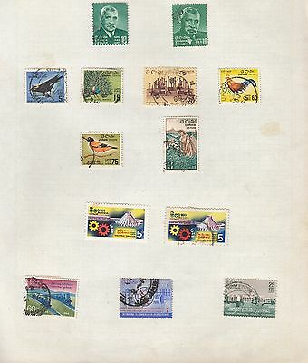 CEYLON on album page stamps removed for shipping (b)