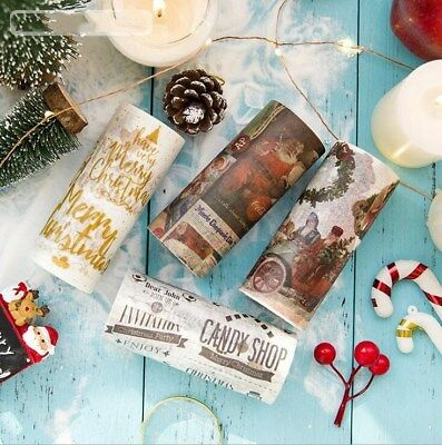 DIY 1Roll 5M Christmas Extra wide washi tape Diary decoration holiday tape 10cm