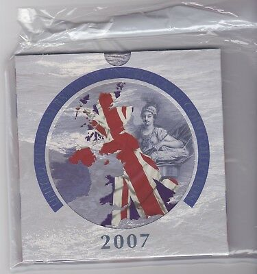 Sealed 2007 Brilliant Uncirculated Coin Collection Of 9 Coins In Royal Mint Pack