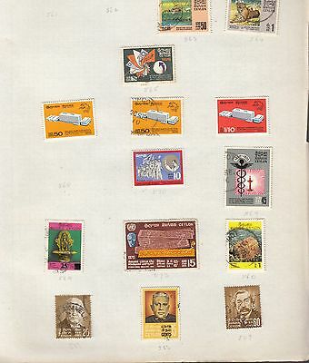 CEYLON on album page stamps removed for shipping (a)