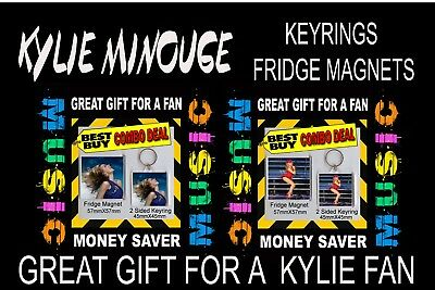 Kylie Minogue Image-Keyring And Fridge Magnets- Great Gift For Klyie Fan