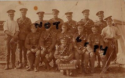 Soldier Group 1st Herts Hertfordshire Regiment Transport Section at annual camp