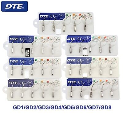 100% Woodpecker DTE Dental Ultrasonic Scaler Tips GD1 2 3 4 5 6 7 8 NSK Satelec