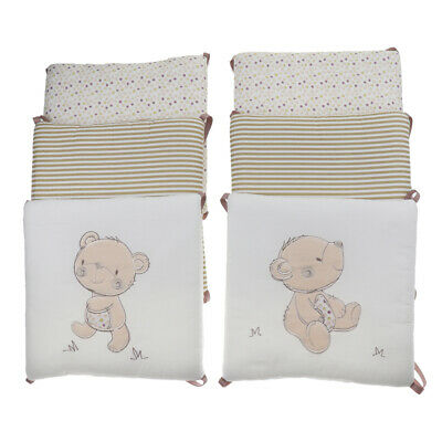 6pcs Baby Bed Bumper Crib Protector Cushion Newborn Bed Bedding Set