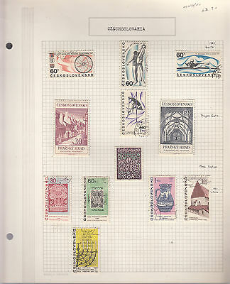 CZECHOSLOVAKIA 1967  Collection On old Album Page MNG/VFU Removed for Ship.(f)