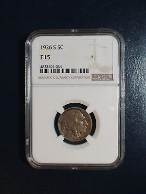 1926 S Buffalo Nickel NGC F15 5C Coin PRICED TO SELL QUICKLY!