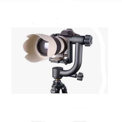 360° Panorama Gimbal Tripod Head Heavy Duty Quick Release for Telephoto DSLR