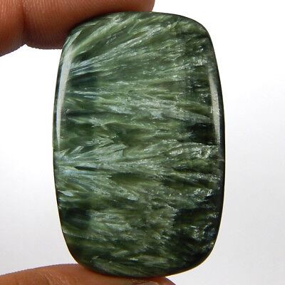 65.80 Cts Natural Green Seraphinite Octagon Cushion Shape Cabochon Gemstone