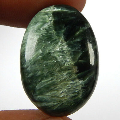 25.95 Cts Natural Green Seraphinite Oval Shape African Gemstone Loose Cabochon