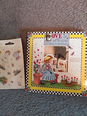 """Mary Engelbreit """"me"""" Rubber Ink Stamp Set And Paper Doll Stickers"""