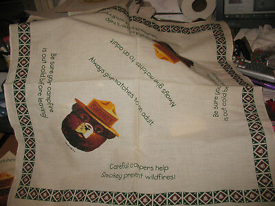 Vintage NOS Smokey the Bear Bandanna Handkerchief Scarf Cotton Fire Fighter