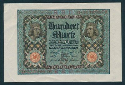 Germany: WEIMAR REPUBLIC 1-11-1920 100 Mark. Pick 69c AUNC - Cat UNC $27