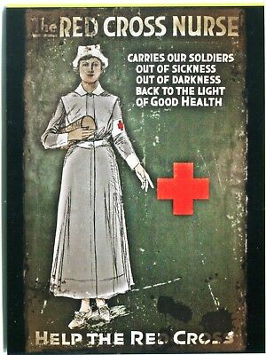 Postcard Of Vintage World War I Poster For The Red Cross Nurse