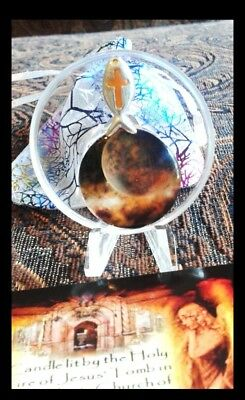 Universe Relic Display Containing Holy Flame candle wax from The Tomb of Jesus