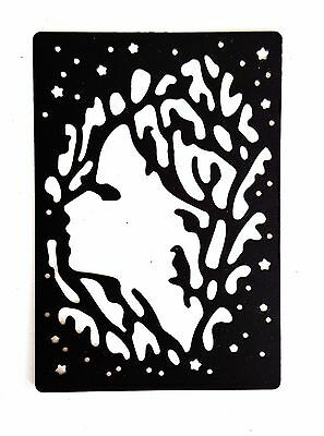 Lady in Branches Window cutting stencil set fancy die Elegant scrapbook