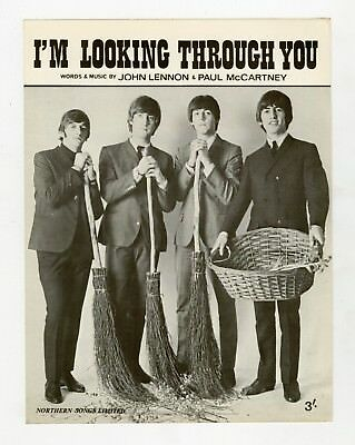 The Beatles 1965 I'm Looking Through You Northern Songs UK Sheet Music