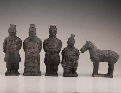 5 China Ceramic Terracotta Warriors Horses Replica Intangible Cultural Statue