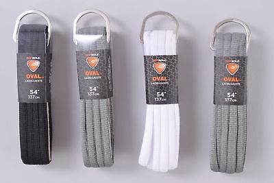 """LOT of 4 Sofsole Oval Laces 54"""" 137cm White Grey Black Shoe Sneaker Boot"""