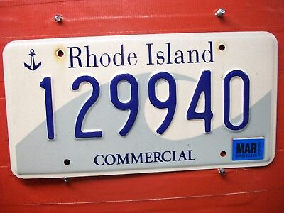 Rhode Island   = 2005 Mar = Commercial = Wave  =   License Plate = 641